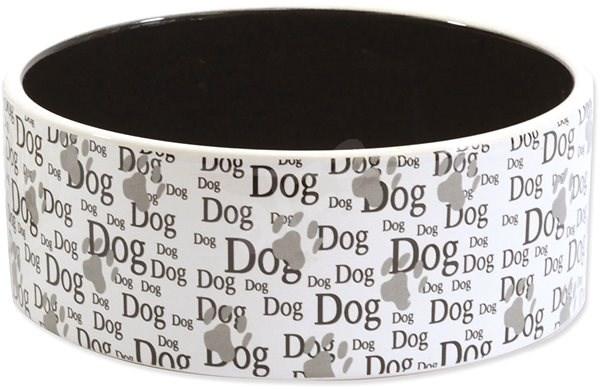 DOG FANTASY Miska keramická potisk Dog 0,75 l 16 × 6 cm - Miska pro psy