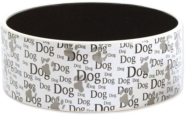 DOG FANTASY Ceramic Bowl with Dog Print, 1,4 l 20 × 7,5cm - Dog Bowl