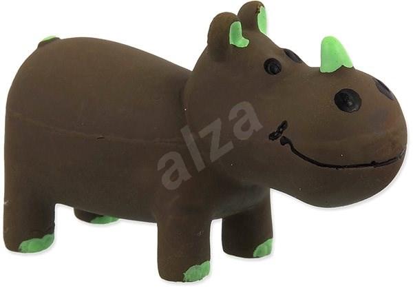 DOG FANTASY hračka latex nosorožec hnědá se zvukem 10 cm - Hračka pro psy