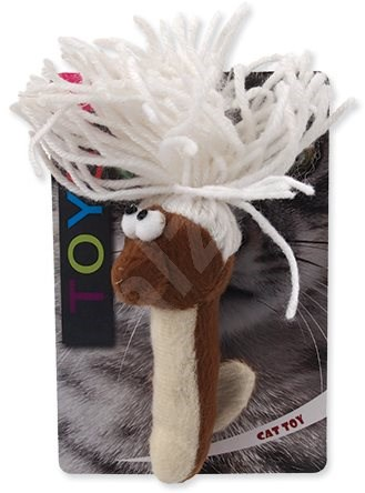 MAGIC CAT hračka červík bavlněná plyš mix 13,75 cm - Hračka pro kočky