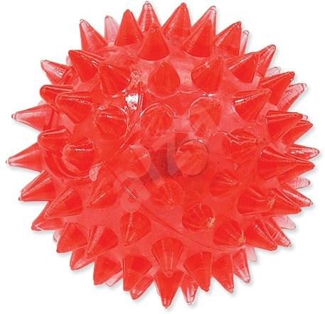 DOG FANTASY hračka míček LED růžová 5 cm - Míček pro psy
