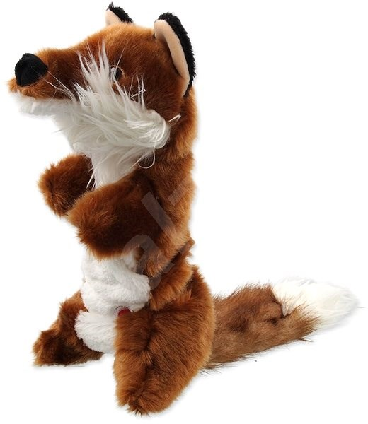 DOG FANTASY hračka plush pískací liška 45 cm - Hračka pro psy