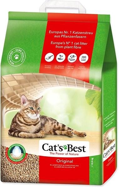 JRS kočkolit cats best original 20l/8,6kg - Stelivo pro kočky