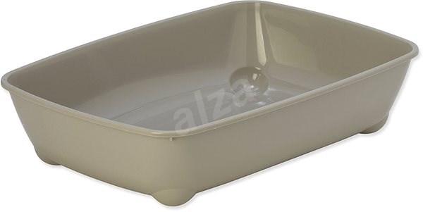 MAGIC CAT toaleta economy 42×31×13cm šedá - Kočičí toaleta