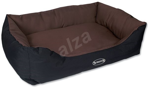SCRUFFS expedition box bed XL 90×70cm čokoládový - Pelíšek pro psy