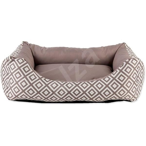 DOG FANTASY Sofa 63×53×18cm etno hnědé - Pelíšek pro psy
