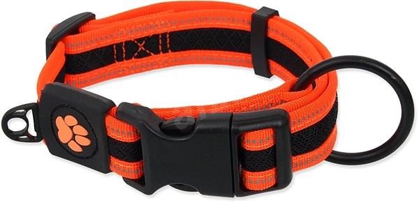 ACTIVE obojek fluffy L oranžový 3,2×39-59cm - Obojek pro psy