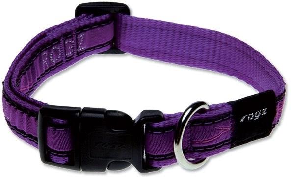 ROGZ obojek Fancy Dress purple chrome 1,6×26-40cm - Obojek pro psy