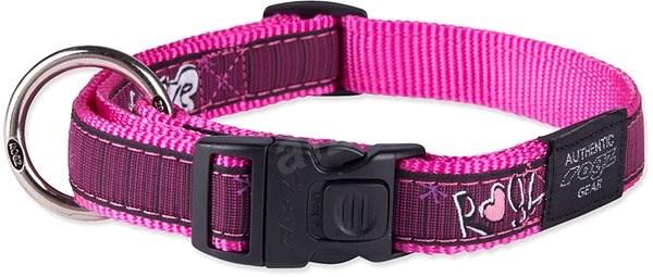 ROGZ obojek Fancy Dress pink love 2×34-56cm - Obojek pro psy