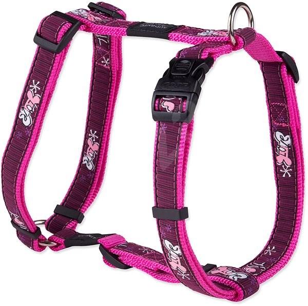 ROGZ postroj Fancy Dress pink love 2×45-75cm - Postroj pro psa