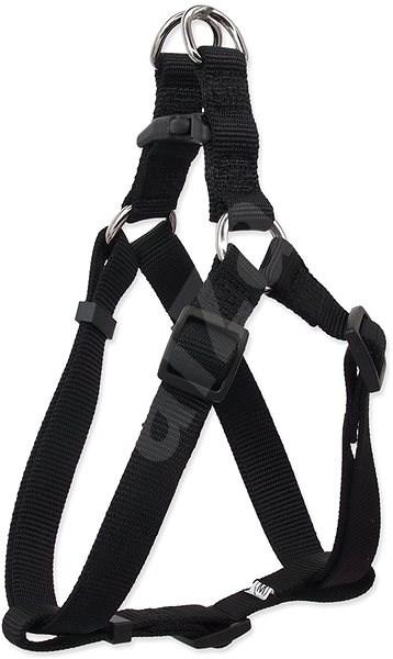 DOG FANTASY postroj classic S černý 1,5×45-63cm - Postroj pro psa
