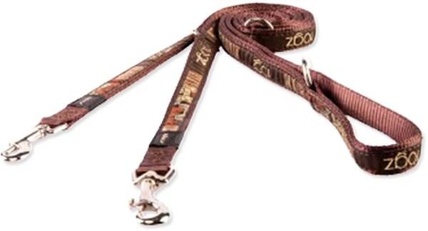 ROGZ vodítko Fancy Dress mocha bone přepínací 1,1×200cm - Vodítko pro psa