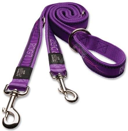 ROGZ vodítko Fancy Dress purple chrome přepínací 1,6×180cm - Vodítko pro psa