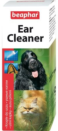 Beaphar Drops Ear  Cleaner 50ml - Ear Drops for Cats and Dogs