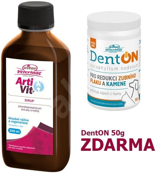 Vitar Veterinae Artivit sirup 200ml + Zdarma DentOn 50g - Kloubní výživa pro psy