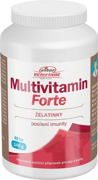 Vitar Veterinae Multivitamin Forte želé 40ks - Vitamíny pro psy