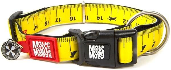 Max & Molly Smart ID obojek polostahovací, Ruler, Velikost M - Obojek pro psy