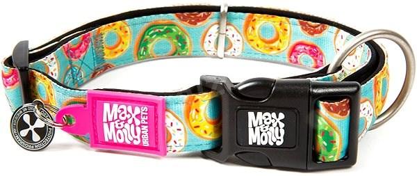 Max & Molly Smart ID obojek polostahovací, Donuts, Velikost M - Obojek pro psy