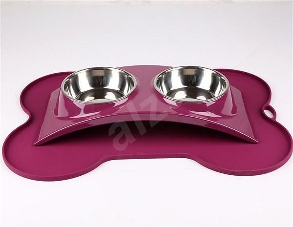 Janette Pets Exclusive Set 2x 385ml, violet - Dog bowl