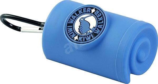 Kiwi Walker Obal s karabinou na sáčky, modrý - Zásobník na sáčky na psí exkrementy