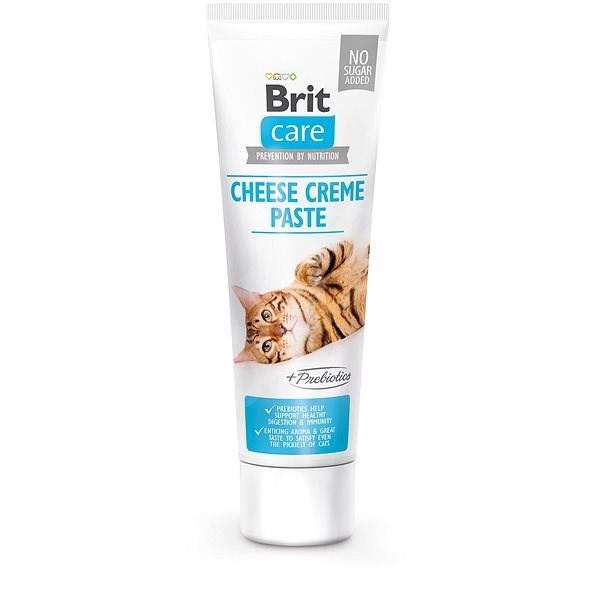 Brit Care Cat Paste Cheese Creme enriched with Prebiotics 100 g - Doplněk stravy pro kočky