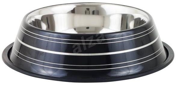 Akinu Deluxe Stainless-steel Bowl, Black, 400ml - Dog Bowl