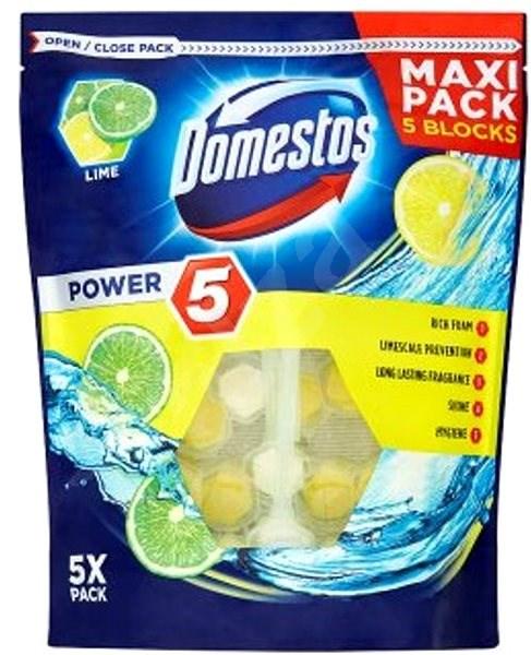 DOMESTOS Power 5 Lime 5 x 55g - WC blok