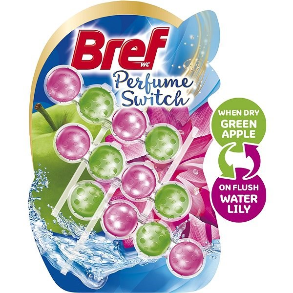 BREF Parfume Switch Apple-Water Lily  3 × 50 g - WC blok
