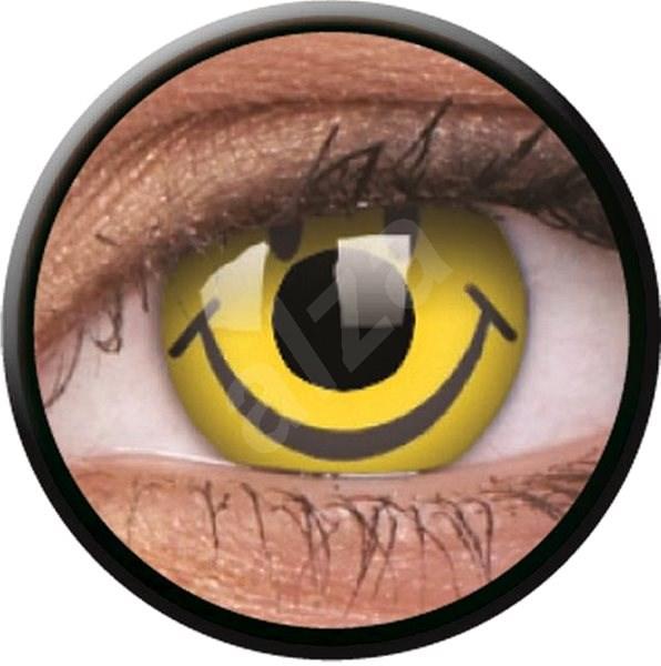 ColourVue Crazy - Smiley, roční, nedioptrické, 2 čočky - Kontaktní čočky