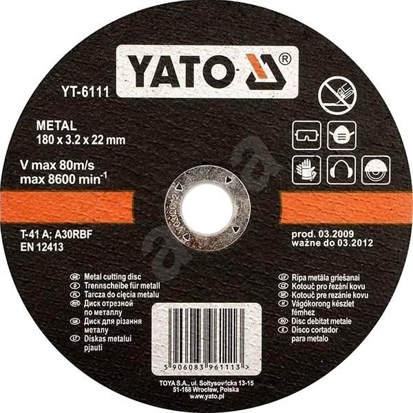 Yato Kotouč na kov 125 x 22 x 2,5 mm - Řezný kotouč