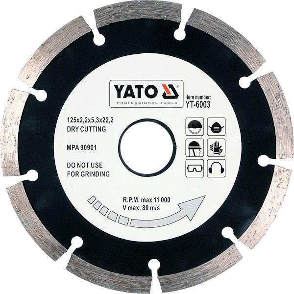 Yato Kotouč diamantový 125 x 22,2 x 2,2 mm - Diamantový kotouč
