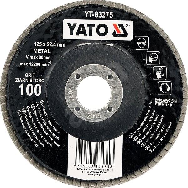 Yato Kotouč lamelový brusný na kov 125x22,4mm P100 - Lamelový kotouč
