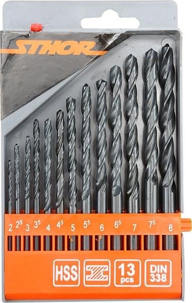 Sthor Sada vrtáků na kov 13 ks - Sada vrtáků do železa