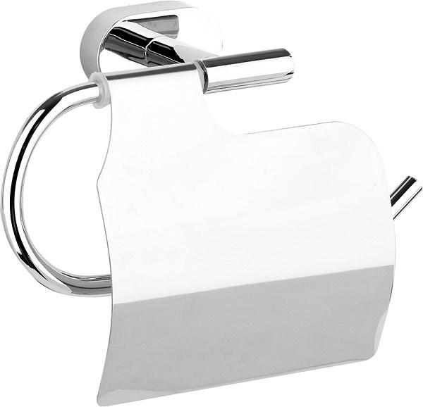 Držák toaletního papíru s krytem Oval Chrom - Držák toaletního papíru