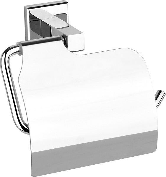 Quad Chrome Toilet Paper Holder with  Cover - Toilet paper holder