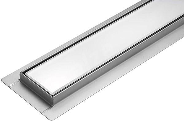 Lineární koupelnový žlab Bílé Sklo 80 cm WET&DRY - Sprchový žlab