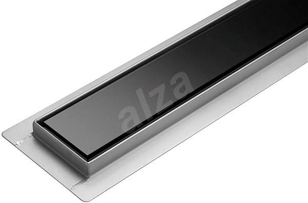 Linear Bathroom Drawer Black Glass 60 cm WET & DRY - Shower Drain
