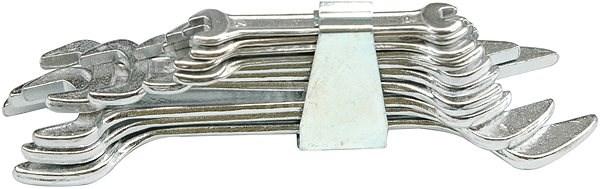 Vorel Sada klíčů plochých 10 ks 6 - 32 mm spona - Klíč