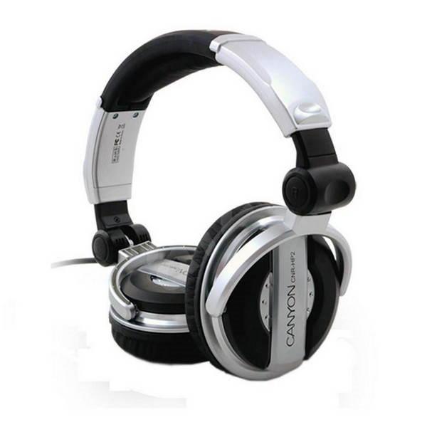 Canyon CNR-HP2 černo-stříbrná - Sluchátka