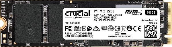 Crucial P1 500GB M.2 2280 SSD - SSD disk