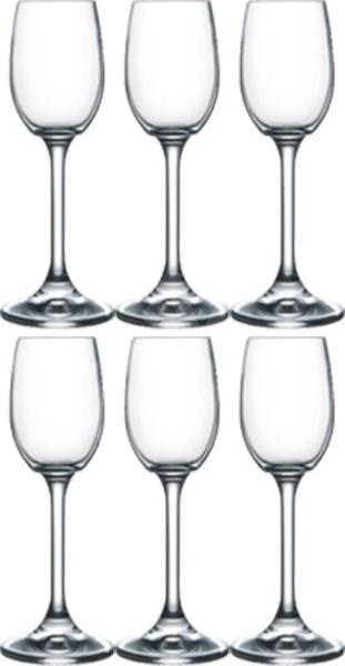 BOHEMIA CRYSTAL na likér LARA 65ml 6ks - Sada sklenic