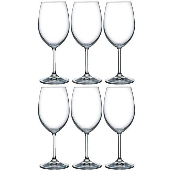 BOHEMIA CRYSTAL bordeaux LARA 450ml 6ks - Sklenice na víno