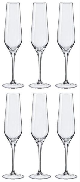 BOHEMIA CRYSTAL na šampaňské REBECCA 195ml 6ks - Sklenička na šampaňské