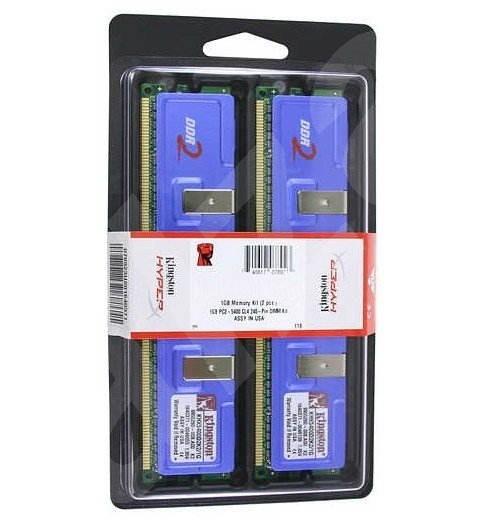 Kingston 2GB KIT DDR2 800MHz CL5 HyperX - Operační paměť