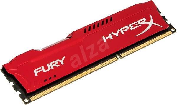 HyperX 8GB DDR3 1600MHz CL10 Fury Red Series - Operační paměť