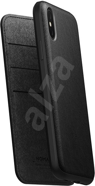 Nomad Folio Leather Case Black iPhone XS/X - Kryt na mobil