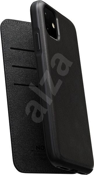 Nomad Folio Leather Case Black iPhone 11 - Kryt na mobil