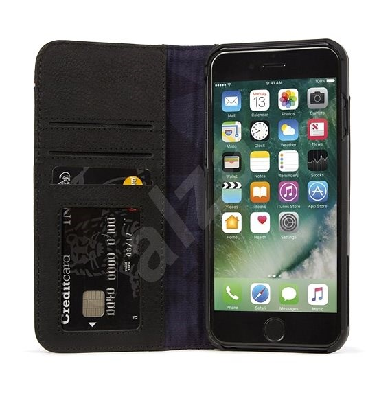 Decoded Leather Wallet Case 2 Black iPhone 8 7 6s 6 - Pouzdro na ... 0f5f17a572a