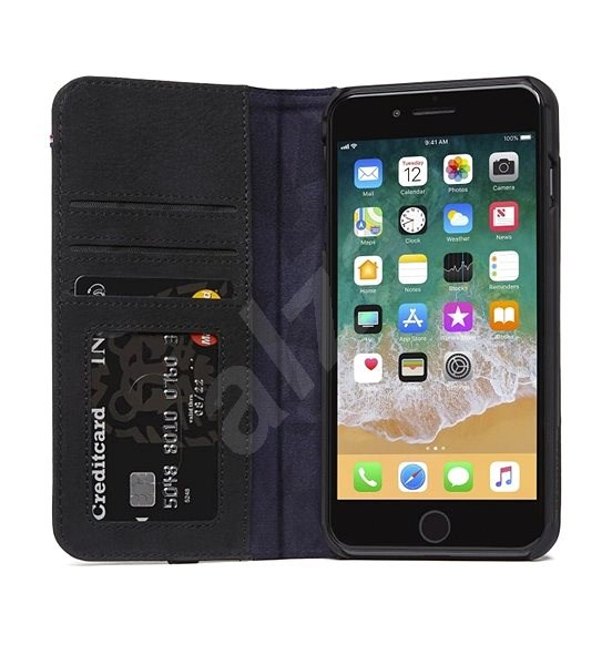 Decoded Leather Wallet Case Black iPhone 8 Plus/7 Plus/6s Plus - Pouzdro na mobil