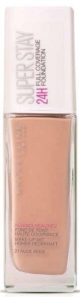 MAYBELLINE NEW YORK Super Stay 24H Full Cover Foundation 021 Nude Beige 30 ml - Make-up